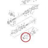 Приводной вал на квадроцикл Suzuki  (27150-38F00)