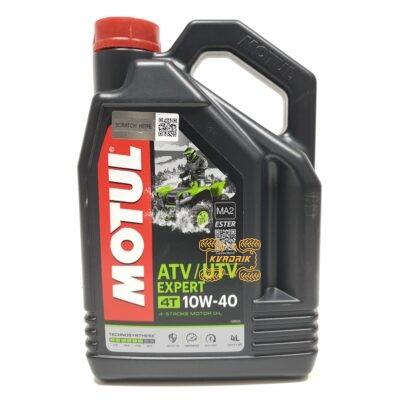 Синтетическое моторное масло для квадроциклов и багги MOTUL ATV-UTV EXPERT 10W40 4L