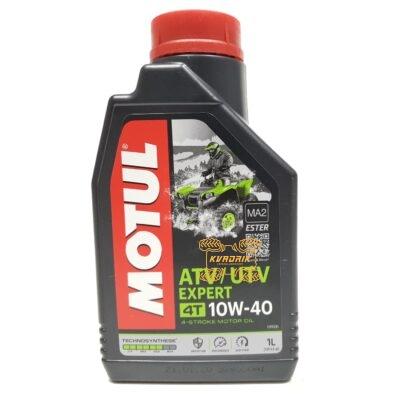 Синтетическое моторное масло для квадроциклов и багги MOTUL ATV-UTV EXPERT 10W40 1л
