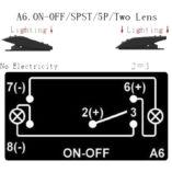 Переключатель для дополнительных фар и прожекторов под врезку в панель приборов UTV или внедорожников