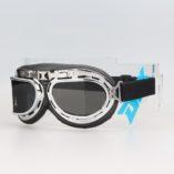Очки «Ретро» с серебристой оправой, стекла тонированые