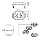 LED подсветка днища для квадроцикла, багги или автомобиля — SHARK LED Light, Multi-Color