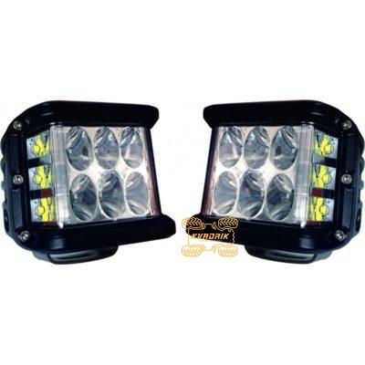 Комплект из 2 фар, прожекторов для квадроцикла, багги или джипа - ExtremeLED L061 45W  10см дальний свет