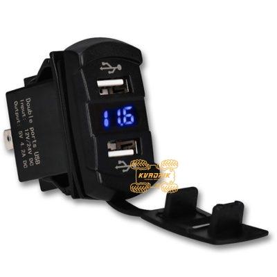 USB зарядка с вольтметром для UTV, багги, Side-by-Side, внедорожников, катеров
