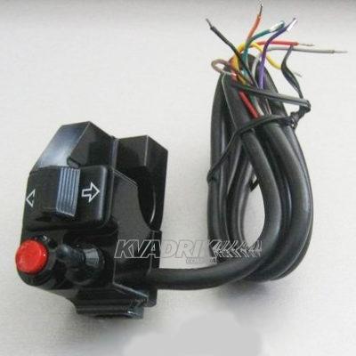 Блок переключателей на руль 22мм (свет, сигнал, поворотники) в алюминиевом корпусе