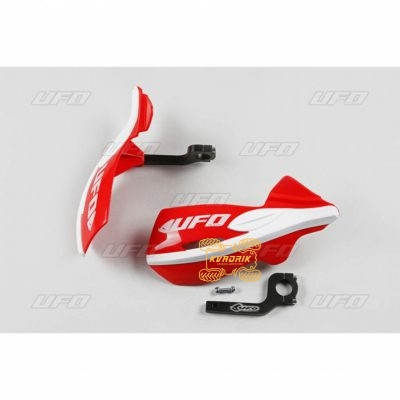 Защита рук для квадроцикла UFO Patrol с креплением. Цвет красный