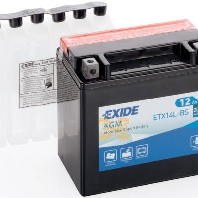 Акумулятор EXIDE YTX14L-BS необслуживаемый