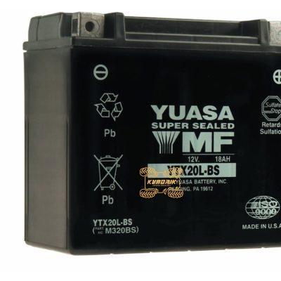 Аккумулятор YUASA YTX20L-BS 175X87X155 необслуживаемый