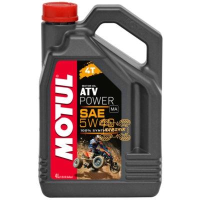Синтетическое моторное масло для квадроциклов и багги MOTUL ATV POWER 4T 5W40 4л