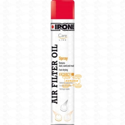 Масло в спрее для пропитки воздушных фильтров IPONE SPRAY AIR FILTER OIL 750ML (CARELINE)   800652