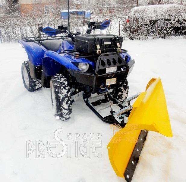 Снегоотвал асиметричный PRESTIGE для квадроцикла Yamaha Rhino 700 UTV  150х55см с передним