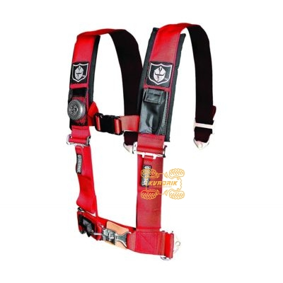 """Ремни безопасности для багги, авто 4-х точечные 3"""" Proarmor (красный)  A114230"""