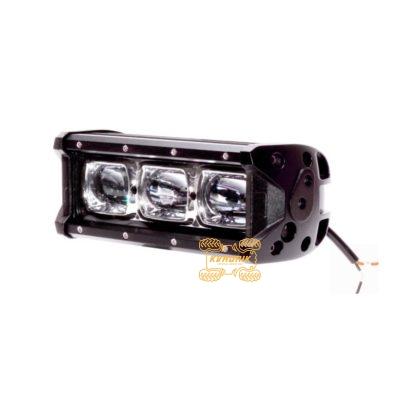 Фара, прожектор, светодиодная балка для квадроцикла Фара Power Light WM-9030  30W  215x75x80мм широкий дальний свет (линза)   широкий дальний свет