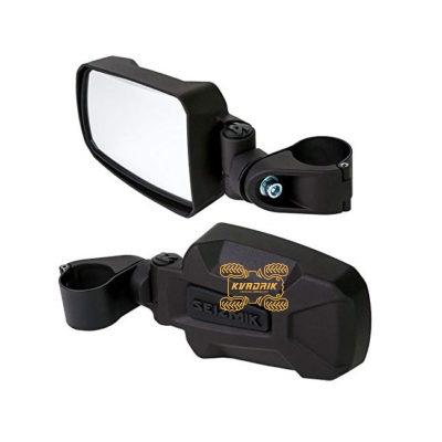 Алюминиевые боковые зеркала Seizmik для 1.75-дюймового каркаса Polaris Ranger, RZR 1000 900 800 570; Kawasaki Mule 3000 4000, Teryx; Yamaha Rhino, Viking    18071