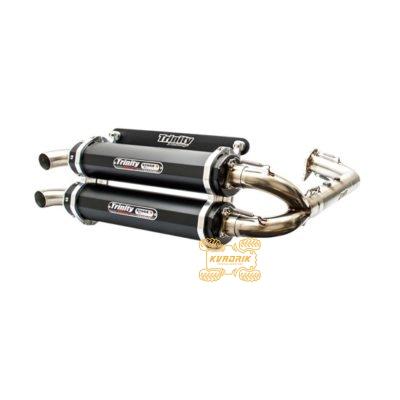 Комплектный выхлоп (два глушителя) Trinity для багги Polaris RZR XP 1000 (16-)         18300400