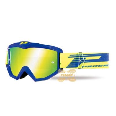 Очки PROGRIP PG3201 FL ATZAKI цвет синий, линза желтая ANTI-SCRATCH, ANTI-FOG, ANTI-UV   PG3201/18BL