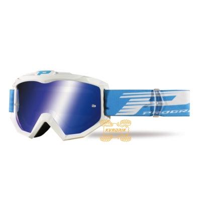 Очки PROGRIP PG3201 FL ATZAKI цвет белый, линза синяя ANTI-SCRATCH, ANTI-FOG, ANTI-UV   PG3201/18WH