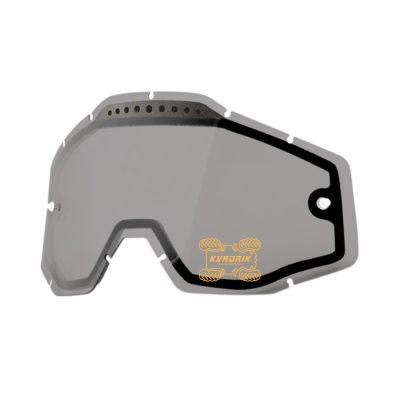 Линза 100% STRATA / RACECRAFT / ACCURI эндуро двойная вентилированая цвет серый с анти-фогом  51006-007-02