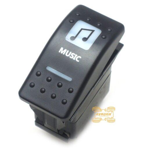 """Переключатель с надписью """"Music"""" под врезку в панель приборов UTV или внедорожников"""