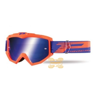Очки PROGRIP PG3201 FL ATZAKI цвет оранжевый, линза синяя ANTI-SCRATCH, ANTI-FOG, ANTI-UV   PG3201/18ORF