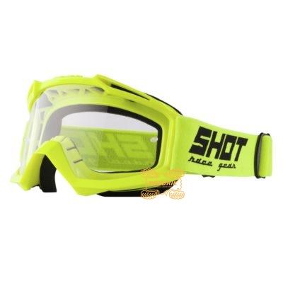 Очки SHOT RACING ASSAULT SOLID цвет желтый, линза прозрачная ANTI-SCRATCH   A0D-29A1-A06