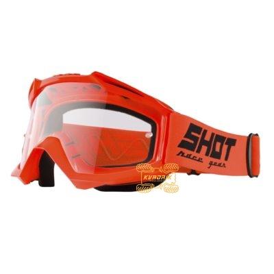 Очки SHOT RACING ASSAULT SOLID цвет оранжевый, линза прозрачная ANTI-SCRATCH   A0D-29A1-A05