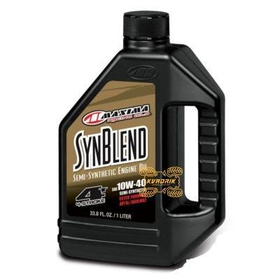 Синтетическое моторное масло для квадроциклов и багги Maxima SYNTHETIC BLEND 10W40 1л    34901B