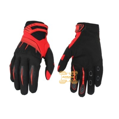 Перчатки летние Spectrum черно-красные размер XL