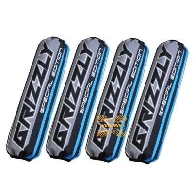 Чехлы амортизаторов для квадроциклов Yamaha Grizzly цвет черно-голубой
