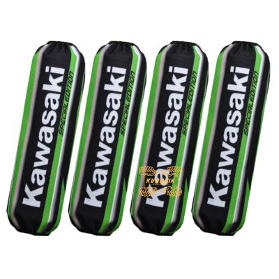 Чехлы амортизаторов для квадроциклов Kawasaki цвет черно-зеленый