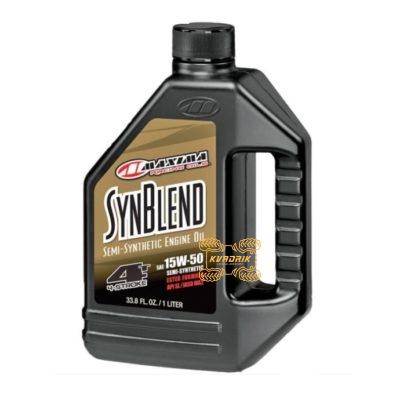 Синтетическое моторное масло для квадроциклов и багги Maxima SYNTHETIC BLEND 15W50 1л   30-36901B
