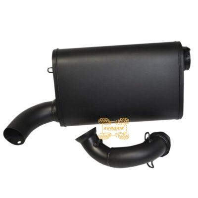 Глушитель BMP Ceramic Black, Singel Barrel Slip-Ons для багги Polaris RZR 900 (15+)  18310747