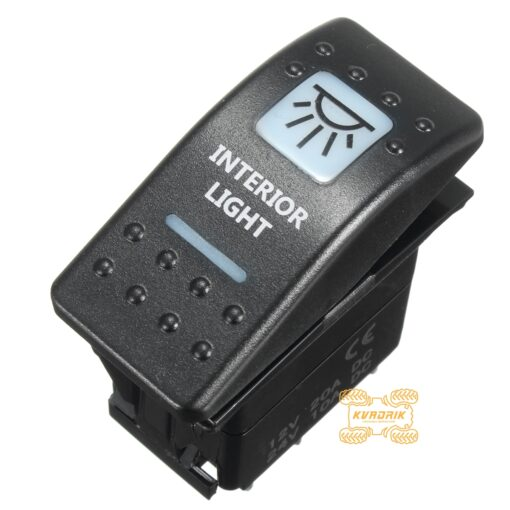 """Переключатель """"Interior Light"""" для дополнительных фар и прожекторов под врезку в панель приборов UTV или внедорожников"""