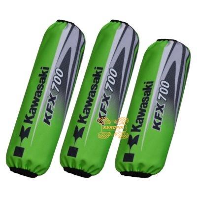 Чехлы амортизаторов для квадроциклов Kawasaki KFX 700 цвет зеленый