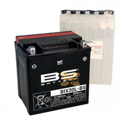 Аккумулятор BS-Battery BIX30L-BS 12V 30Ah 166X126X174