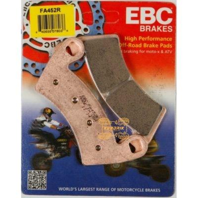 Тормозные колодки для багги Ranger, RZR, EBC FA452R (синтетика)