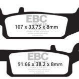 Тормозные колодки передние левые для квадроциклов Yamaha Grizzly 550/700 (2007+) EBC FA443R (синтетика)