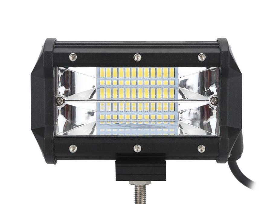 LED прожектор, фара для квадроцикла — LED-C4-72 72W 13см широкий дальний свет