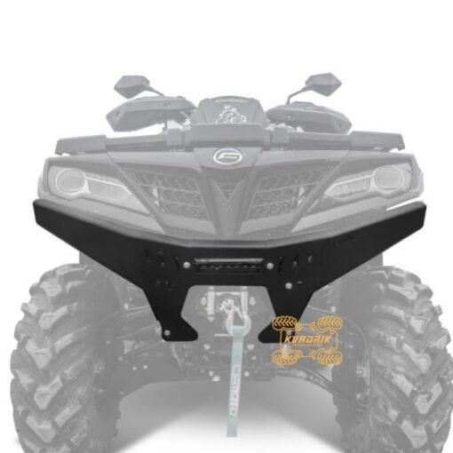 Металлическая накладка на передний бампер Rival для квадроцикла CFMoto X8 H.O, X10 (2018+) 444.6885.1