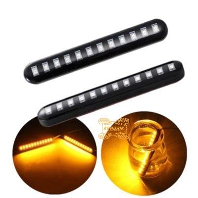 Светодиодный указатель поворота (эффект плавающего свечения оранжевого цвета)  AL9002