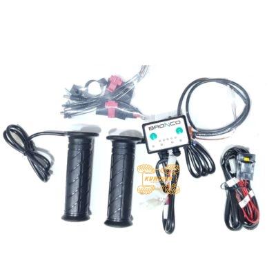 Ручки и курок с подогревом (четырехзонный контроллер) на квадроцикл Bronco Heater Grip AT-08326