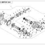 Оригинальный сальник переднего редуктора для квадроцикла CFMoto X5 500 (24×38×8)  0180-311001
