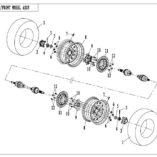 Оригинальный тормозной диск для квадроцикла CFMoto 500 600 800  9010-080001