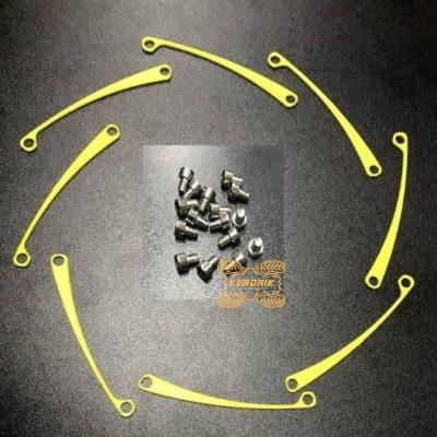 Набор вкладышей  для дисков Cyclone цвет  желтый