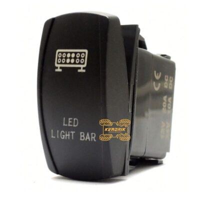 """Переключатель X-ATV """"Led Light Bar"""" для фар под врезку в панель приборов UTV или внедорожников   SW001"""