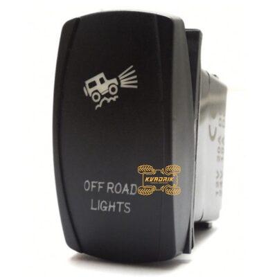 """Переключатель X-ATV """"Off Road Lights"""" для фар под врезку в панель приборов UTV или внедорожников SW006"""