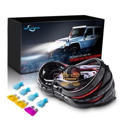 Комплект проводки MICTUNING для подключения LED фар мощностью до 400W на квадроцикле, багги или внедорожнике (переключатель, реле, предохранители, проводка)