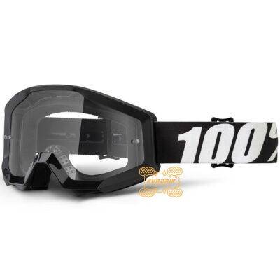 Очки 100% STRATA OUTLAW цвет черный, линза прозрачная с анти-фогом 50400-233-02
