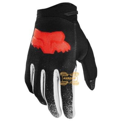 Перчатки FOX DIRTPAW BNKZ GLOVE черные с красной емблемой