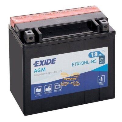 Аккумулятор EXIDE ETX20HL-BS 12V 18AH 175X87X155 YTX20HL-BS